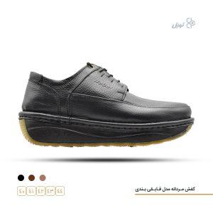 کفش طبی مردانه مدل قایقی بندی
