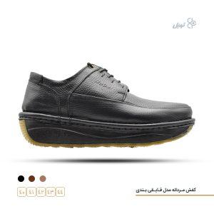 کفش مردانه قایقی بندی مشکی